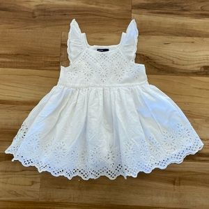 BabyGap Lace White Dress - 18-24 months